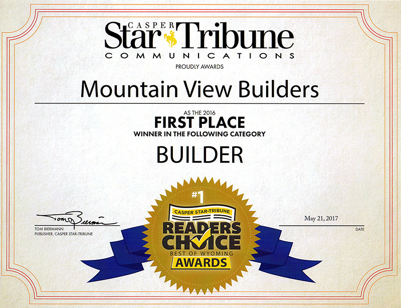 Mountain View Builders Awards