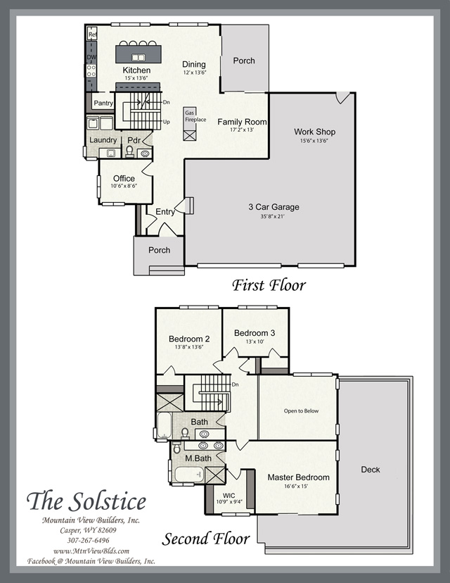 The solstice by mountain view builders for Solstice plus plan one